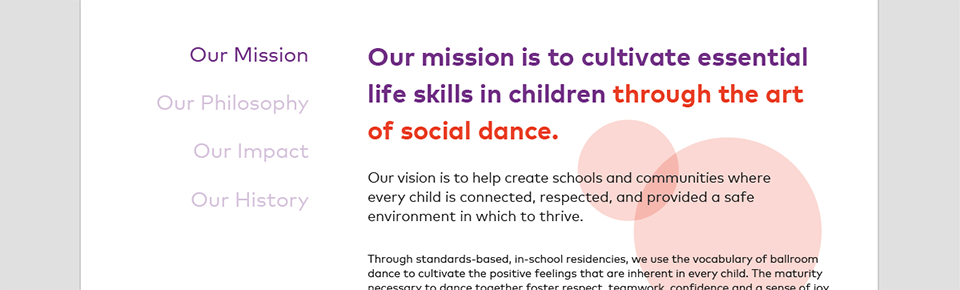 Typography and Layout for Dancing Classrooms