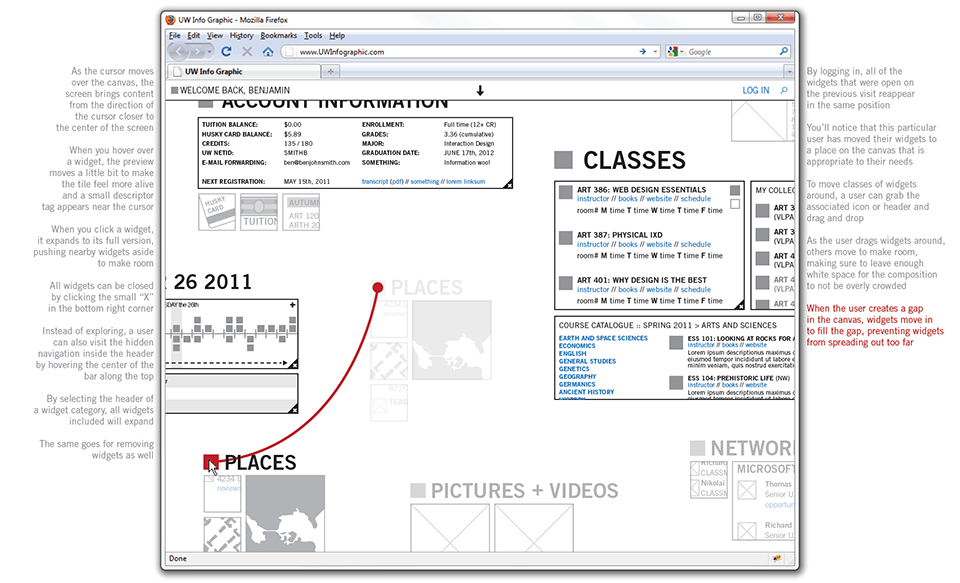 Wireframing full view